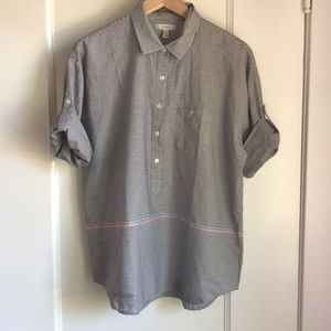 NWOT J. Crew Contrast Stripe Button Up Shirt